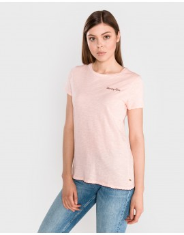 Scotch & Soda BASIC TEE WITH SMALL EMBROIDER