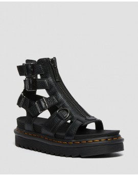 Dr. Martens OLSON ZIPPED LEATHER STRAP SANDALS