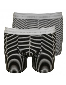 TWO FITTED BOXERS/STRIPE