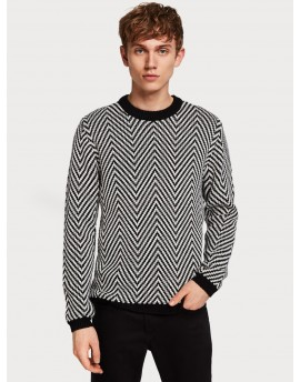 PATTERNED PULLOVER/COMBO A